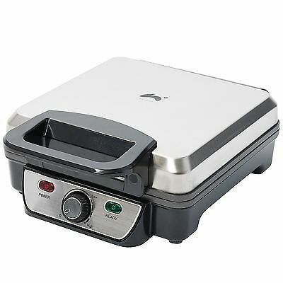 Ovation 1200W Non Stick4 Slice Belgian Waffle Maker Adjustable Temperature