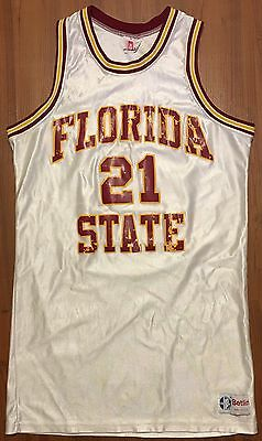 Vintage Authentic 1980's Beltin George Mccloud Florida State Game Jersey Ncaa Xl