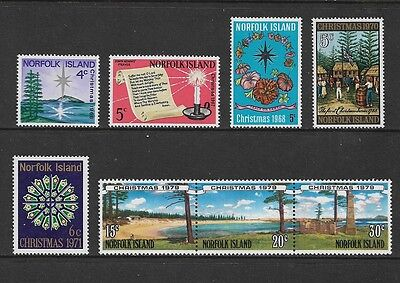 NORFOLK ISLAND - mixed mint collection, 1966-68 1970-71 1979 Christmas, MNH MUH