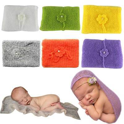 Photography Props Newborn Blanket Wraps Toddler Baby Photo Props Headband Rug AU