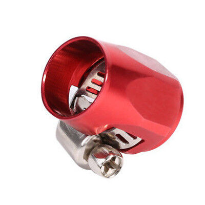 Oil Water Line Hose End Finishers Clip Clamp Red New Car AN6 Fuel 1x General