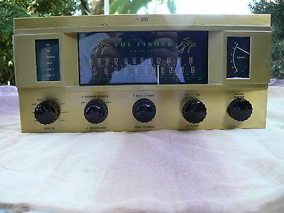 Fisher Mono 500 AM FM Tube Receiver 6L6 5881 Working for Parts/Repair