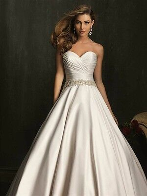 DESIGNER ALLURE PLUS Size Wedding Dress Ivory Champagne with ...