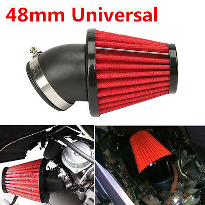 45° Washable Bend Air Intake Filter 360° Air Intake Increase Air Flow for Engine