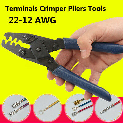 22-12 AWG Electrical Terminal Crimp Plier Crimper Wire Stripper Crimping Tool UK