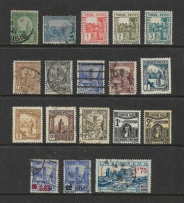 TUNISIA, Tunisie - mixed collection No.2, 1906-1931 + 1937 surch, used & MNG