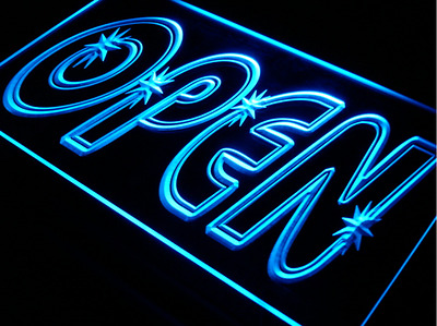 3 Sizes Open Neon Sign Marquee Letters Night Light Retaurant Sign Business Sign