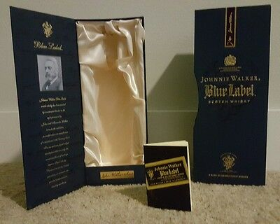 Johnny walker blue label box with card