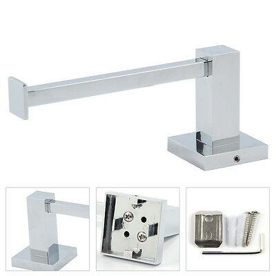 Durable Silver Square Bathroom Toilet Roll Holder Wall Mounted Toilet Roll