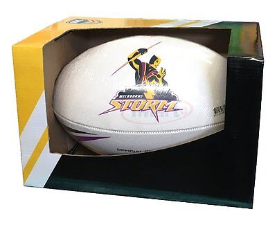Steeden Powerade Official Canberra Raiders Replica NRL Match Ball Football|White