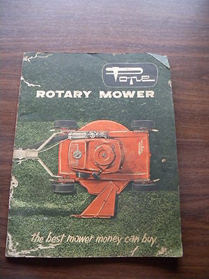 Vintage Pope Rotary Mower Manual Assembly & Operating Instructions 1960s