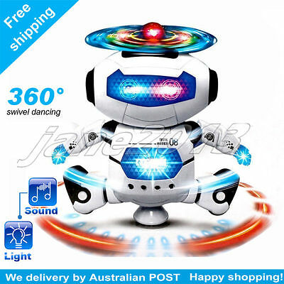 Electric Smart Walking 360swivel Dancing Robot Music Light Toys best boy gift