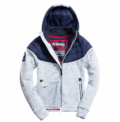NWT Superdry Men's Storm Hybrid Panel Zip Hoody Jumper Hoodie Jacket Size S-3XL