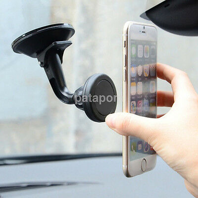 360°Suction Cup Magnetic Car Windshield Cellphone Mount Holder Stand Support AU