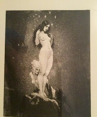 """Norman Lindsay facsimile etching """"Under the Stars"""" no. 399/550"""