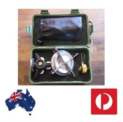 3pc Camping Hiking Camp Stove compact survival cooker Base & nozzle in Hardcase
