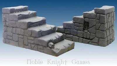 Scotia Grendel Historical Mini Resin 25mm Stone Stairs Pack MINT