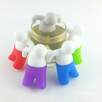 12 Colours Mr.Tea Infuser Silicone Leaf Strainer Herbal Spice Filter Diffuser