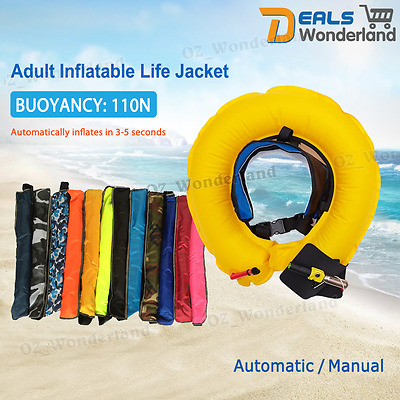 Auto/Manual Inflatable Belt Pack Waist Life Jacket PFD Boating Swimming Vest