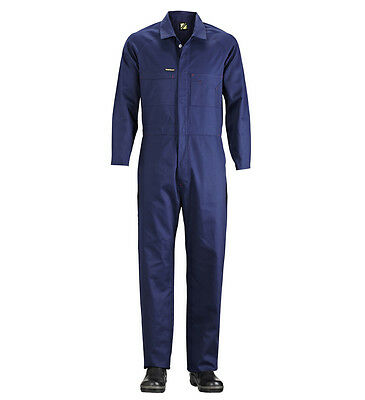1 x Overall Workmans Navy Mechanics Coverall full sleeves w FREE Wonka lollies