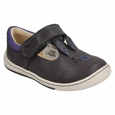 Girls Clarks Amelio Glo Toddler Hook & Loop Casual Shoes Infant Leather Size