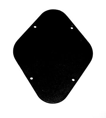 Back Plate Control Cavity Cover Black Durable ABS Plastic for Electric Guitar UK