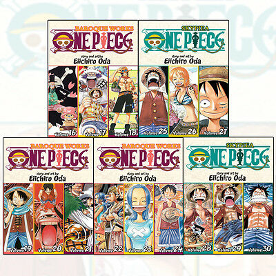 Eiichiro Oda Collection One Piece (3-in-1 Edition) Vol (6 - 10) 5 Books Set Pack