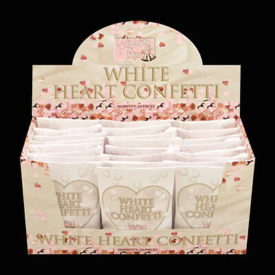 White Heart Shaped Wedding Confetti In Sealed Paper Pack Packs Box Decoration