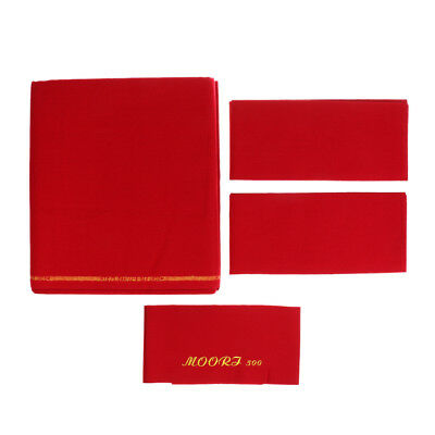 Red M00RI500 Worsted Pool Table Cloth 9ft Table - Bed Cloth & Cushion Strip