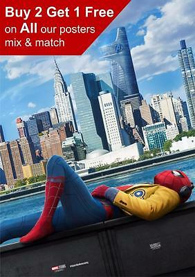 Marvel Spiderman Homecoming Movie Poster A5 A4 A3 A2 A1