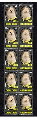Chow Chow P/breed Dog Mint Strip Of 10 Stamps 4