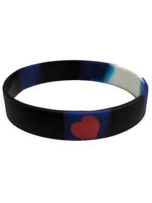 Leather Pride Bracelet Silicone Gay CSD LGBT Elastic Wristband Cuff Bangle Hand