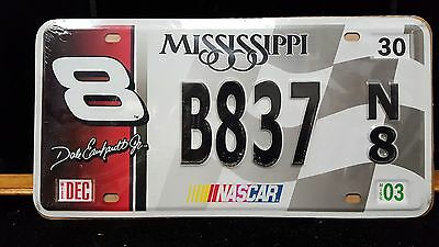 Nos Metal12X6 Replica Mississippi Dale Earnhardt Jr. License Plate  Free Shippin