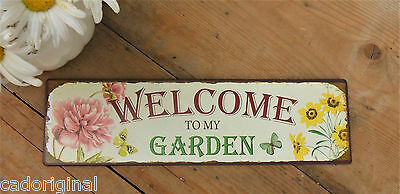 Gartenschild, WELCOME TO MY GARDEN , Metallschild, Schild, NEU in used Optik