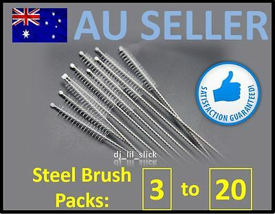 20 New Stainless Steel Drinking Straw Cleaning Brush Metal Nylon Brushes Straws