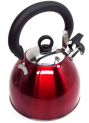 PINK Kettle whistling camping light weight whisteling small 2.5ltr stainless
