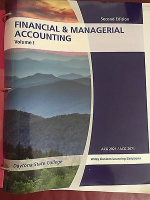 Financial managerial accounting chapters 1 14 2nd edition financial managerial accounting vol 1 2nd edition wiley acg 2021acg 2071 fandeluxe Images