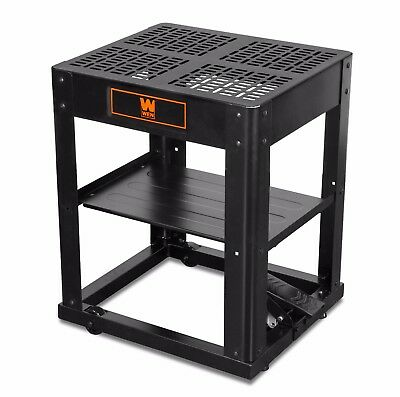 WEN 6588 Multi-Purpose Planer Stand with Storage Shelf and Rolling Base