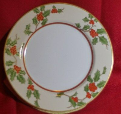 """FITZ & FLOYD """"CHRISTMAS HOLLY"""" china pattern ~Round Serving Platter~"""