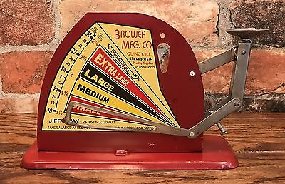 Brower Mfg. Co. JIFFY WAY, Quincy, IL, Vintage Tin Poultry Egg Scale
