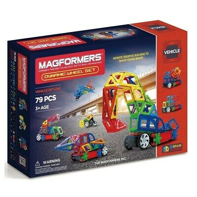 NEW!!! Genuine Magformers Dynamic Wheel Set - 79 pc includes remote control