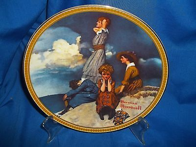 Rockwell Plate Waiting on the Shore Rediscovered Women Series Knowles