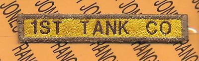 US Army 1ST TANK CO Armor Tanker AD AIR tab patch