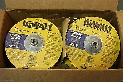 "(10) DEWALT 9"" x 1/4"" x 5/8""-11 Stainless Steel Angle Grinding Wheel Type 27"