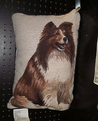 Sheltie Tapestry Pillow by Linda Pickens
