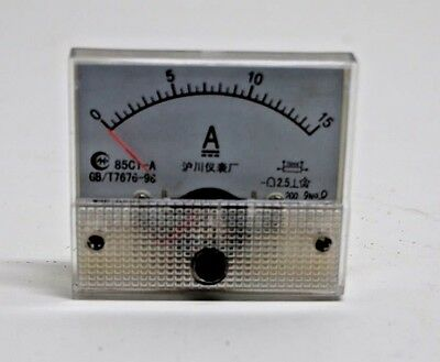 DC 15A Analog Ammeter Panel AMP Current Meter 85C1 0-15A DC