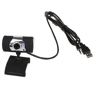 USB 2.0 HD Webcam Camera with Microphone for PC Laptop Swivel Black NEW F4X3