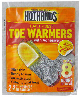 Hothands Toasti-Toes Toe Warmers With Adhesive Pair Of 2 Toe Warmers Box Of 43
