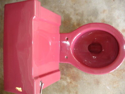"Vintage  ""STANDARD"" T'ang Red Toilet Antique"