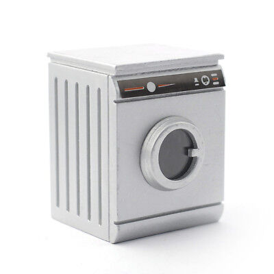 Dolls House Miniature 1:12th Scale Silver Washing Machine
